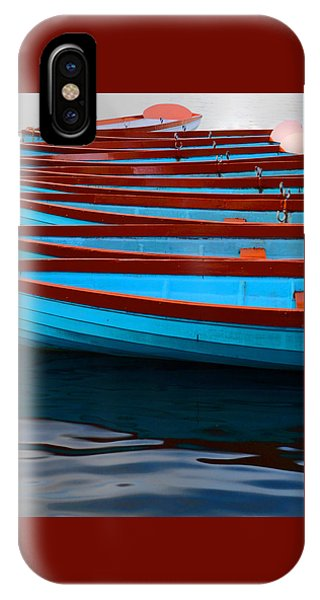 Red And Blue Paddle Boats IPhone Case