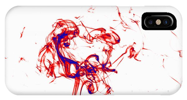 Red And Blue Twirrl IPhone Case