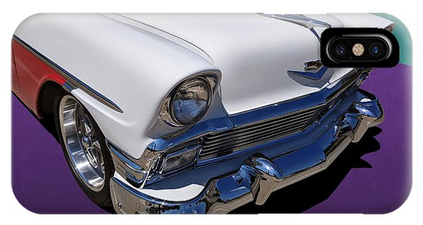 Red And White 1950s Chevrolet Wagon IPhone Case