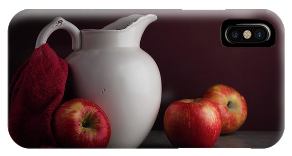 Kettles iPhone Case - Red And White Apple Still Life by Tom Mc Nemar