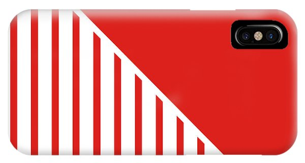 Red And White Triangles IPhone Case