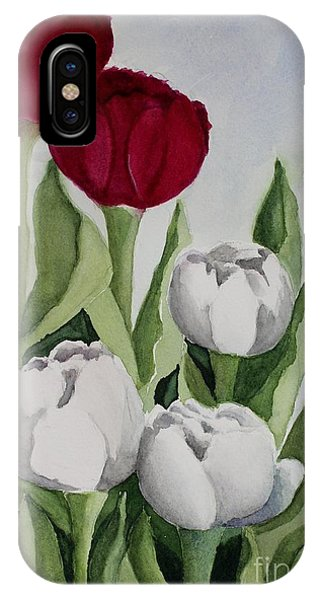 Red And White Tulips IPhone Case