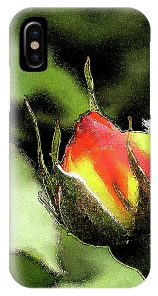 Red And Yellow Climbing Rose IPhone Case