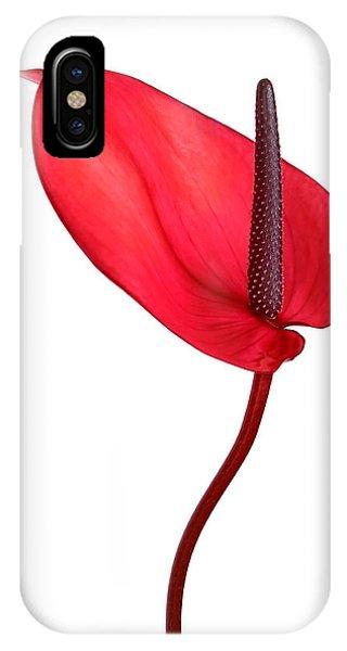Red Anthrium IPhone Case