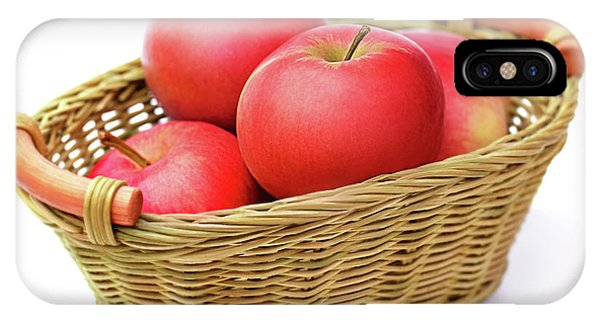 Swanky iPhone Case - Red Apples In Basket. by Yurii Agibalov