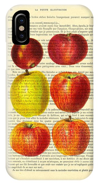 Fruit iPhone Case - Red Apples Still Life Vintage Illustration by Madame Memento