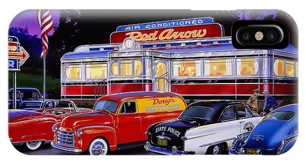 Trolley Car iPhone Case - Red Arrow Diner by MGL Meiklejohn Graphics Licensing
