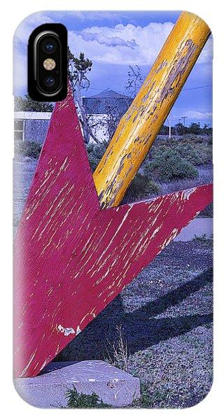 Timeworn iPhone Case - Red Arrow Head by Garry Gay