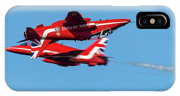 IPhone Case featuring the photograph Red Arrows  by Cliff Norton