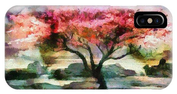 Red Autumn Tree IPhone Case