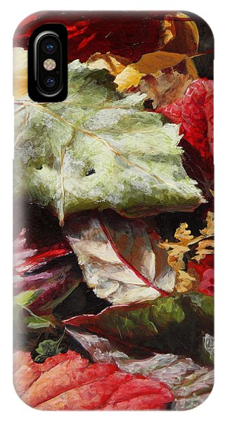 Red Autumn - Wasilla Leaves IPhone Case