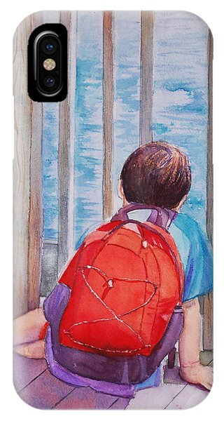 Red Backpack IPhone Case