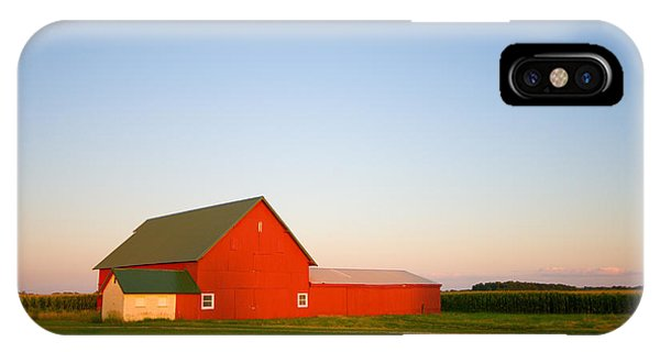 Red Barn And The Moon IPhone Case