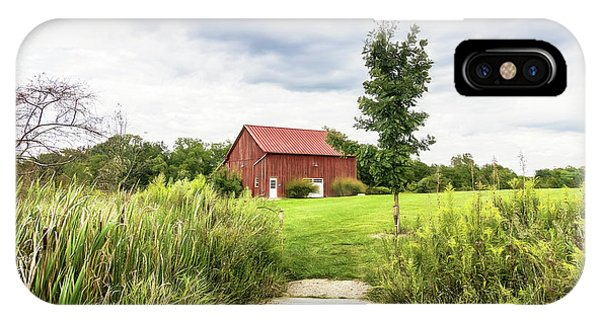 Rural iPhone Case - Red Barn At Dawes Arboretum by Tom Mc Nemar