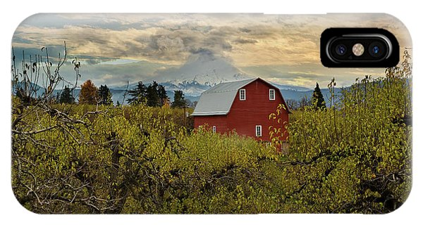 Red Barn At Pear Orchard IPhone Case