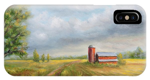 Red Barn In Spring IPhone Case