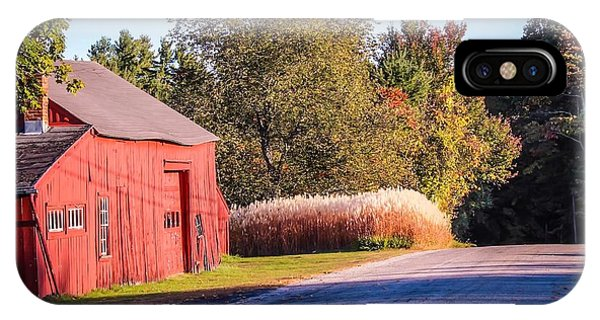 Red Barn In The Country IPhone Case