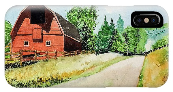 Red Barn Near Steamboat Springs IPhone Case