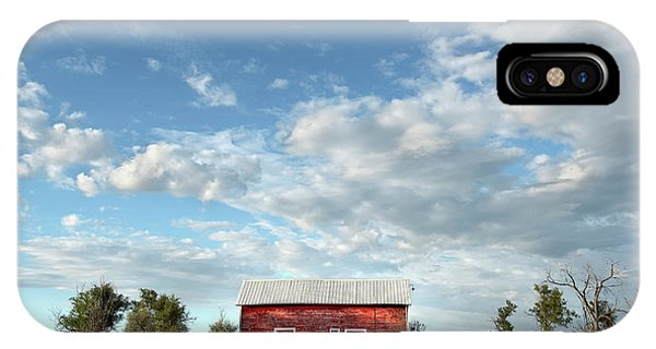 Red Barn On The Prairie IPhone Case