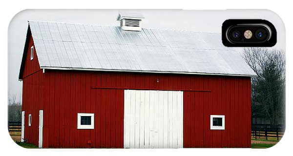 Barn iPhone Case - Red Barn- Photography By Linda Woods by Linda Woods