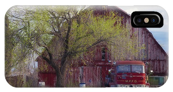 Red Barn Red Truck IPhone Case