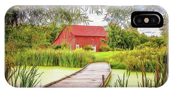 Rural iPhone Case - Red Barn by Tom Mc Nemar