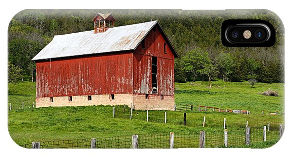 Red Barn With Cupola IPhone Case