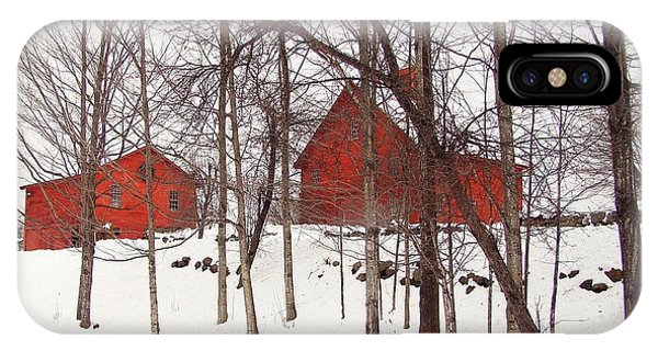 Red Barns IPhone Case