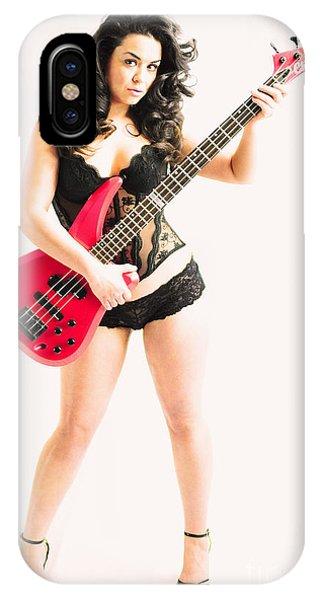 Red Bass Guitar IPhone Case