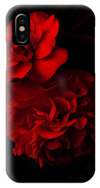 Red Begonia IPhone Case