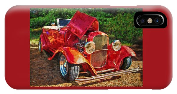 The Red Bell Roadster IPhone Case