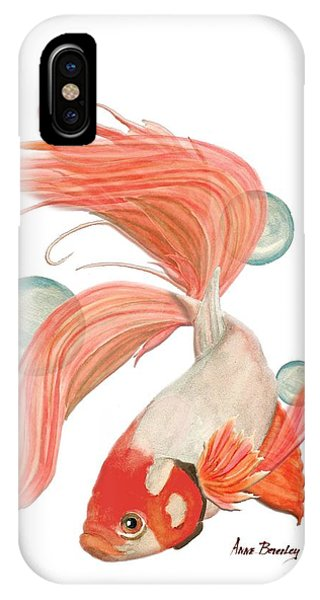 Red Beta Fish IPhone Case