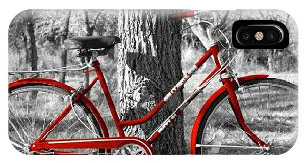 Transportation iPhone Case - Red Bicycle II by James Granberry