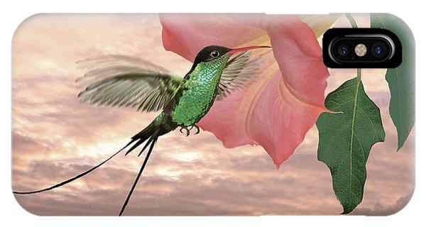 Red-billed Streamertail Hummingbird IPhone Case