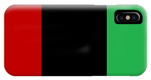 Red Black And Green IPhone Case