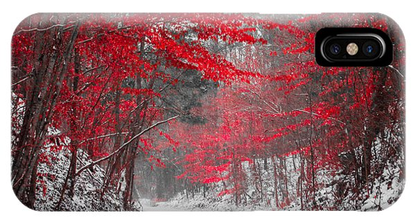 Red Blossoms Horizontal IPhone Case