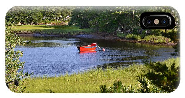 Red Boat On The Herring River IPhone Case