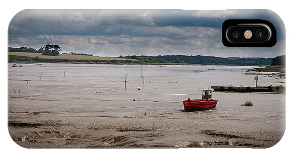 Red Boat On The Mud IPhone Case