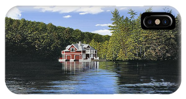 Red Boathouse IPhone Case
