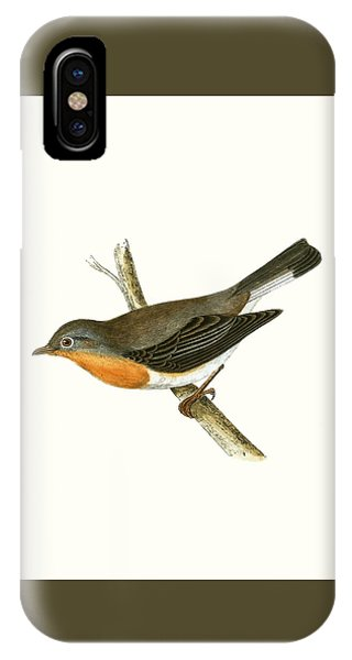 Red Breasted Flycatcher IPhone Case