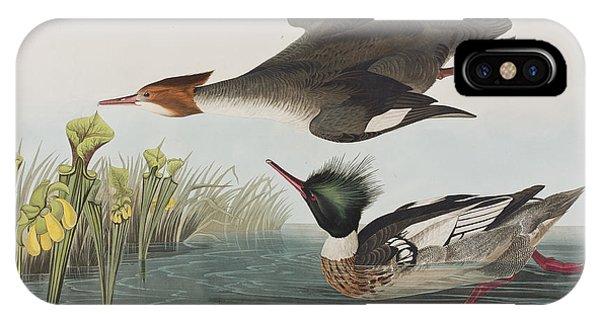 Audubon iPhone X Case - Red-breasted Merganser by John James Audubon