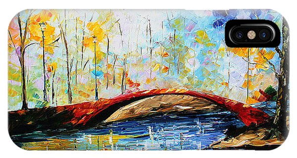 IPhone Case featuring the painting Red Bridge by Kevin Brown