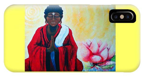 Red Buddha Lotus IPhone Case