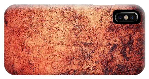 Red Burnt Clay With Scratched Surface IPhone Case