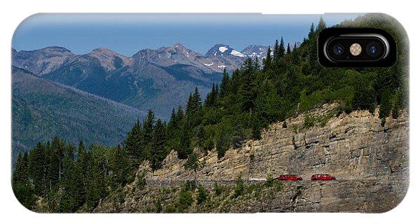Red Buses, Glacier National Park IPhone Case