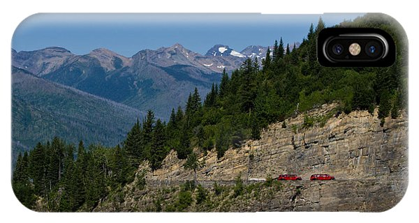 Red Buses, Glacier National Park IPhone Case
