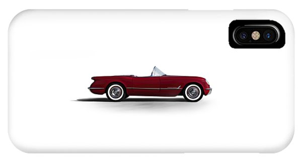 Chevrolet iPhone Case - Red C1 Convertible by Douglas Pittman