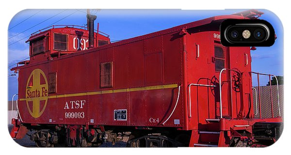 Red Caboose iPhone Case - Red Caboose  by Garry Gay