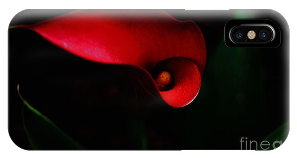 Red Calla Lilly IPhone Case