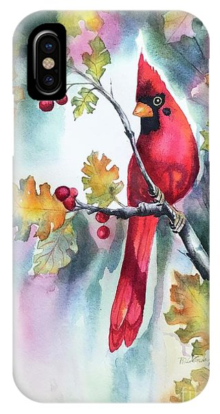 Red Cardinal With Berries IPhone Case
